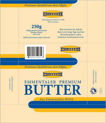 Butter-Verpackung