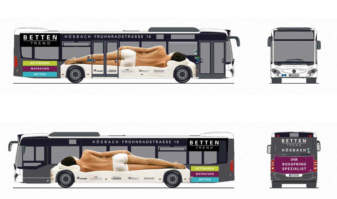 Betten Trend Hösbach Buswerbung