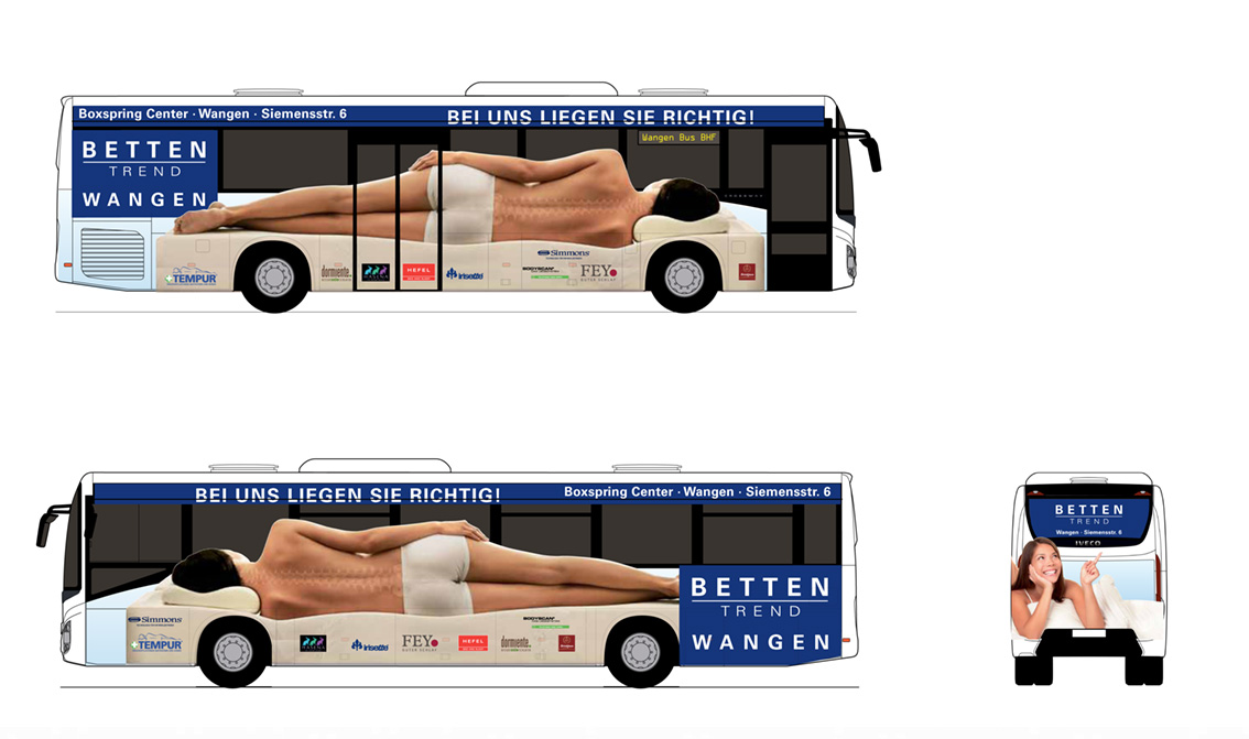 Betten Trend Wangen Buswerbung