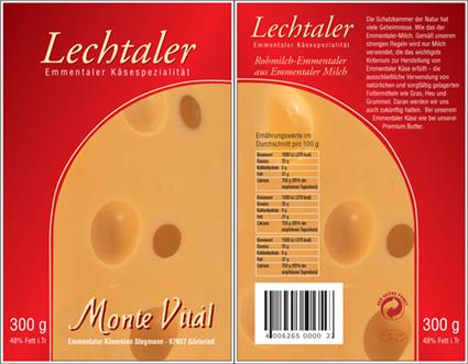 Käse-Verpackung